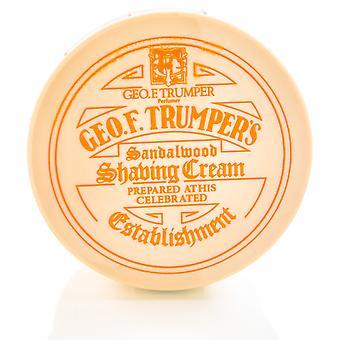 Pote de sabão geo F Trumper barbear suave sândalo - 200g