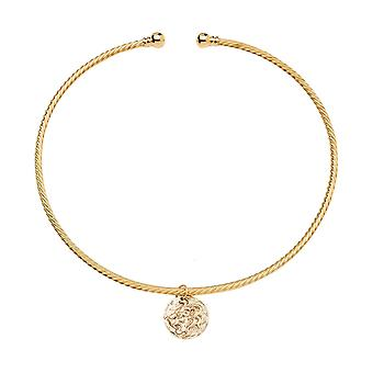 Gemshine halsband choker Coin LÖWE i silver eller guldpläterad-2 cm-Antique