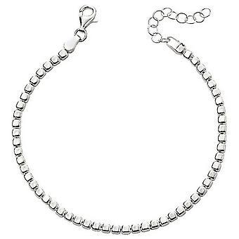 Começos tombado cubo bracelete - prata