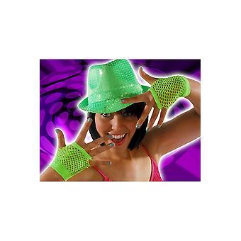 Gants résille gants lumineux vert