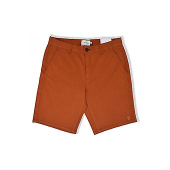 Farah Hawk Garment färgade shorts (Goldfish)