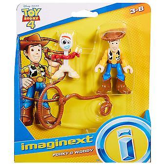 Imaginext Disney Toy Story GBG90 speelgoed, Woody en vork
