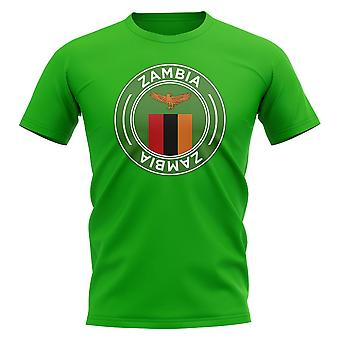 Zambia Football Badge T-Shirt (Green)
