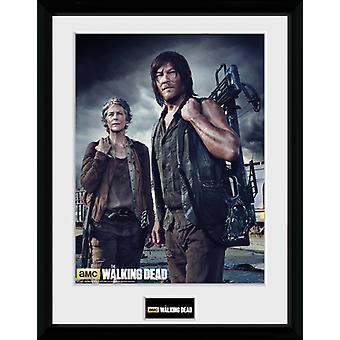 Die Toten Carol Wandern und Daryl gerahmt Collector Print 40x30cm
