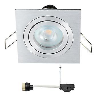 Coblux LED forsænket Spotlight | Square | Varm hvid | 5 watt | dæmpbar | Vippe