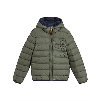 Timberland Boys Khaki Green Hooded Packable Bubble Jacket