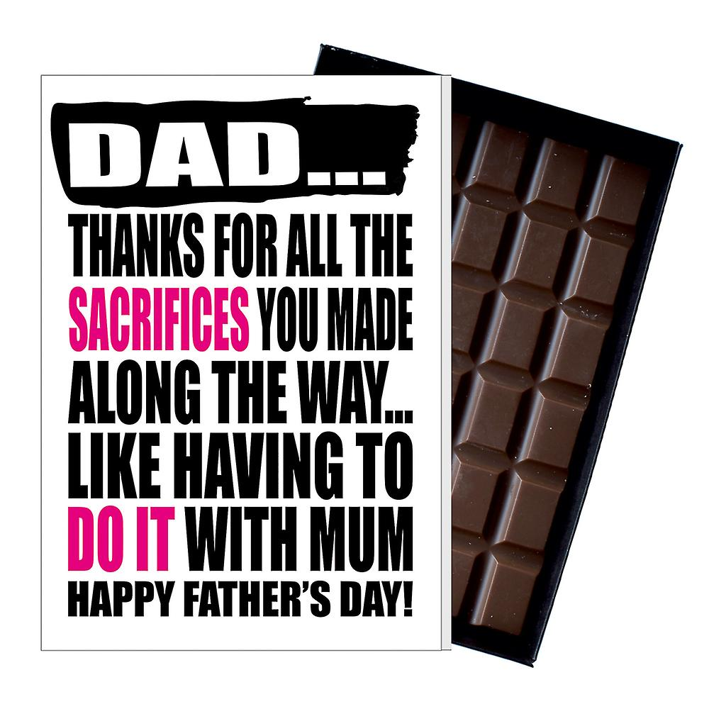 Funny Father's Day Gift Silly Chocolate Present Rude Card For Dad DADIYF141