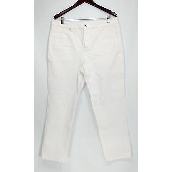 Isaac Mizrahi Live! Donne&apos Jeans 24/7 Denim Five Pocket White A290885