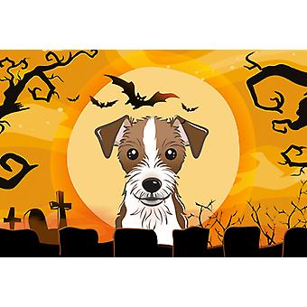 Carolines Treasures  BB1760PLMT Halloween Jack Russell Terrier Fabric Placemat
