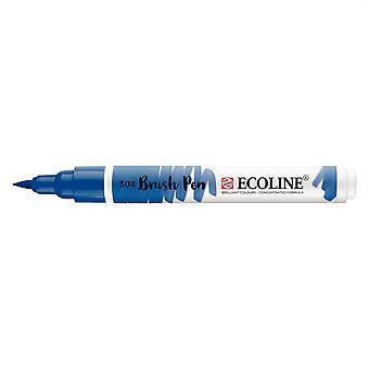 Talens Ecoline Liquid Watercolour Brush Pen - 508 Prussian Blue