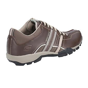 Skechers Mens Urban Tread Refresh Leather Lace Up Shoe
