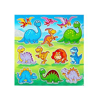 Single Dinosaur Sticker Sheets for Kids Party Bags