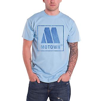 Motown T Shirt Vintage Distressed Iconic Classic Logo Official Mens New Blue