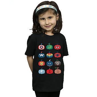 Marvel Girls Avengers Pumpkin Icons T-Shirt