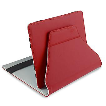 LEO 7-quot; Universal Red Outer/Grey Inter Tablet Cover