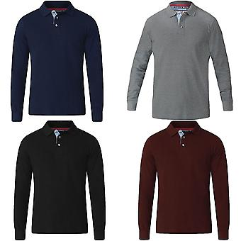 Duke D555 Mens Darvin Big Tall King Size Casual Long Sleeve Pique Polo Shirt Top