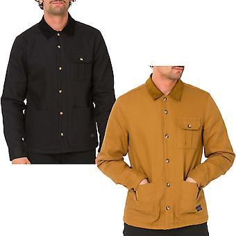 Tier Herren Subway Langarm Button Down Einzelne Tasche Casual Shirt Top