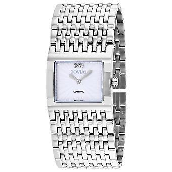 Jovial Women's Diamond Silver Dial Watch - 08037-MSM-02