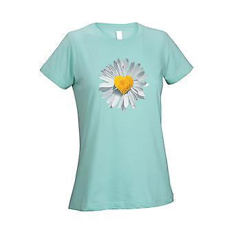 Mujeres 's camiseta corazón flor