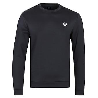 Fred Perry Laurel Wreath Logo Sudadera Negra