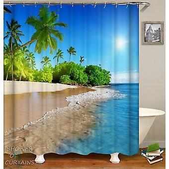 Sunny Tropical Beach Duschvorhang
