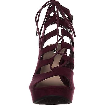 bar III B35 Nelly Platform Gladiator Sandals, Wine, 7 US