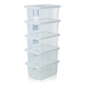 Wham Storage Pallet Deal X 520 - 10 Litre Crystal Plastic Storage Boxes With Lids