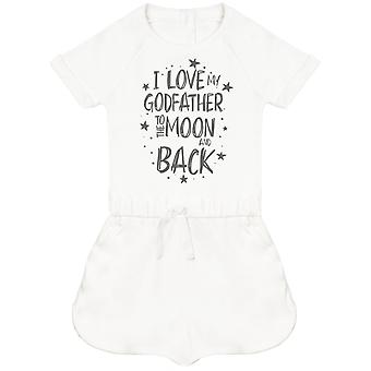 I Love My GodFather To The Moon And Back Baby Playsuit