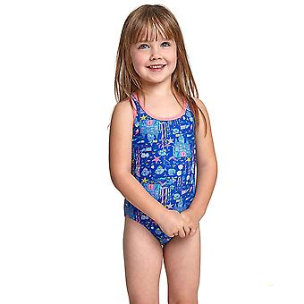 Zoggs Undersea Girl's Actionback One Pieces Swimsuit in Blue / Multi