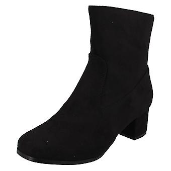 Ladies Spot On Ankle Boots F51086