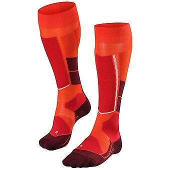Falke Hiihto kierros 4 villaa polvi korkeat sukat-Samba oranssi