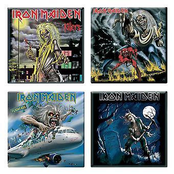 Iron Maiden 4 x Fridge Magnet Albums flight 666 various designs new set