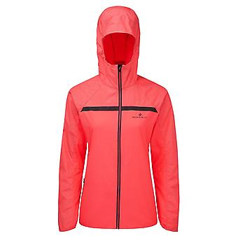 Ronhill Momentum Afterlight Womens Wind & Water Resistant Running Jacket Hot Pink/reflect