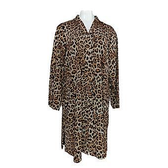 Susan graver vrouwen ' s Petite trui gedrukt nieuwigheid brei bruin A366175
