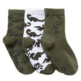 Slip chaussettes 3 paires de dinosaures 22/24