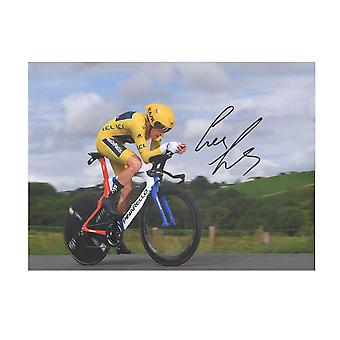 Geraint Thomas Signed Tour De France Cycling Photo: Time Trial