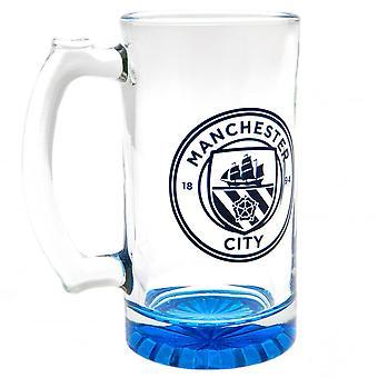 Manchester City FC Crest Glass Tankard