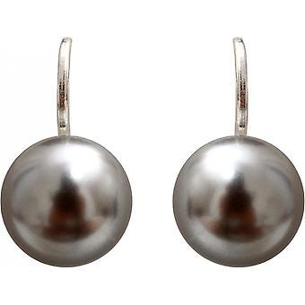 Earrings Clio Blue BO1372GC - earrings workshop Swarovski grey clear money woman