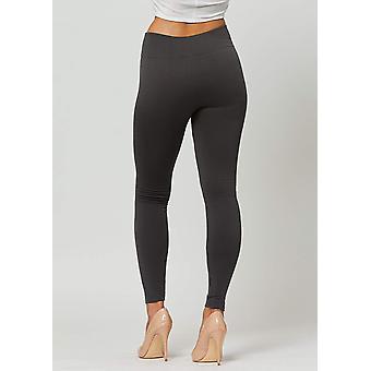 Egenkär Fleece fodrad leggings för kvinnor i 20, svart, storlek Large-X-Large