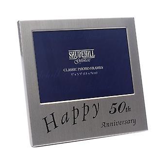 Shudehill Giftware Happy 50th Wedding Anniversary 5 X 3.5 Photo Frame