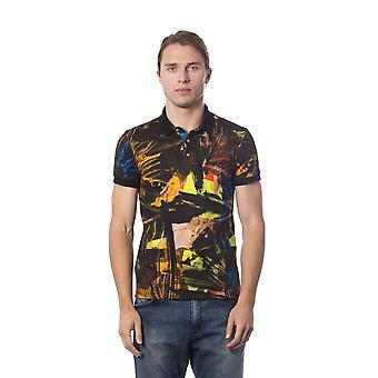 Wielobarwna koszulka polo z krótkim rękawem Roberto Cavalli