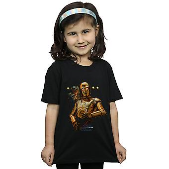 Star Wars Girls The Rise Of Skywalker C-3PO And Babu Frik T-Shirt