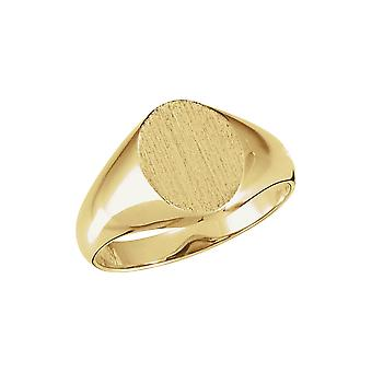 10k Yellow Gold 8x10mm Polished Oval Signet Ring Size 6.5 Jewelry Gifts for Women - 2.7 Grams