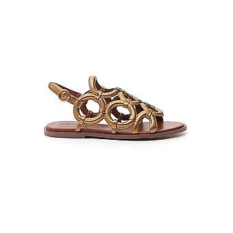 See By Chloé Sb34142a11116087 Women's Bronze Leather Sandals