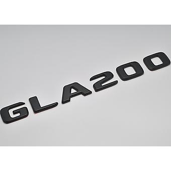 Matt Black GLA200 Flat Mercedes Benz Car Model Rear Boot Number Letter Sticker Decal Badge Emblem For GLA Class X156 AMG