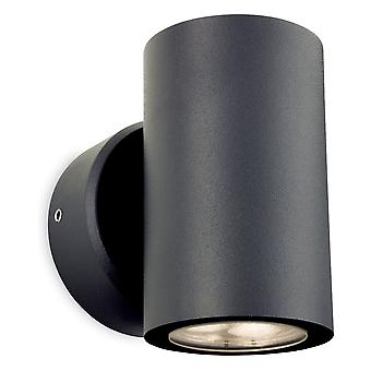 Firstlight Tubular Graphite LED Outdoor Wall Light