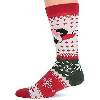 Stance Men's Disney Christmas Crew Sock, Minnie Claus, SMALL