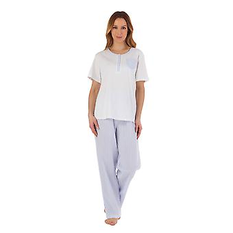 Slenderella PJ55224 Naiset's Raidallinen pyjama setti