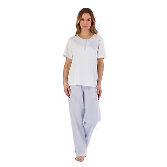 Slenderella PJ55224 Women's Striped Pyjama Set