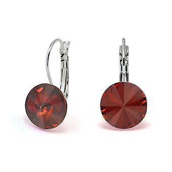 Crystal earrings Red Magma EMB 1.12